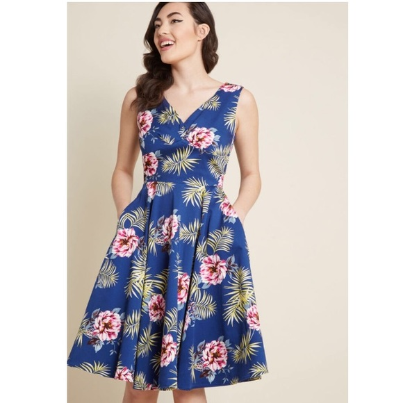 Modcloth Dresses & Skirts - ModCloth Mingling Magic Fit & Flare Dress